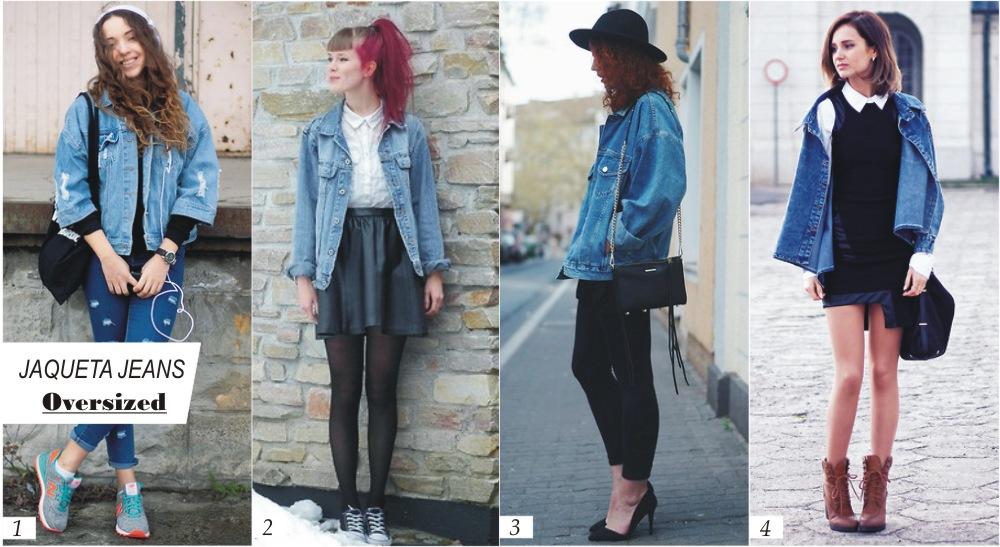 Tendência: Jaqueta Jeans Oversized