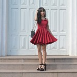 She burns – The Red Dress Look
