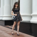Blown Rose – Look sandália com glitter